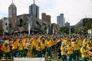 Aussie Olympians welcomed in Melbourne