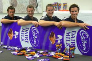 The four silver stars in their chocolate rowing boat
