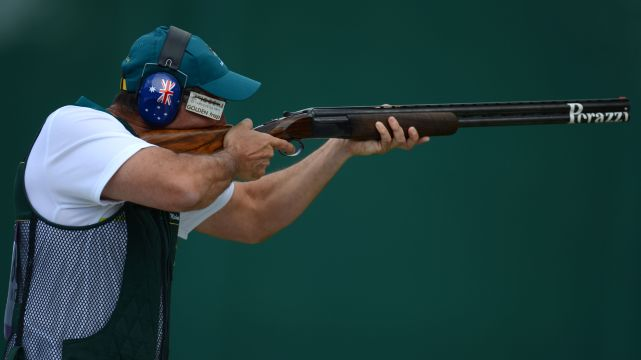 Michael Diamond shoots for bronze in Trap finals