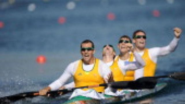 Australia takes gold in the men's 100m Kayak Four