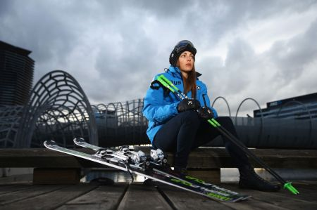 Australian skicross athlete Katya Crema poses