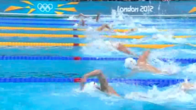 Fraser-Holmes and Monk - 200m Freestyle Semifinal 2 Day 2 London 2012
