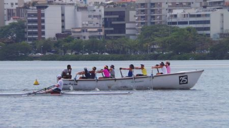 Rowing with Rio locals