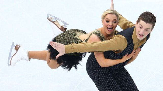 Post event fun with Ice Dance Couple