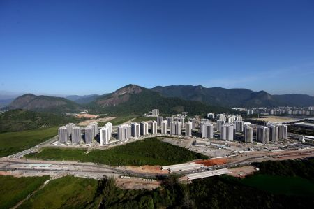 Athletes' village six months out