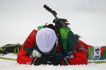Exhausted Biathlete