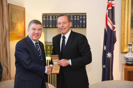Thomas Bach and Tony Abbott