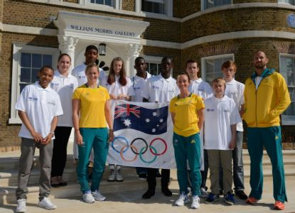 Young athletes insipred by Olympians
