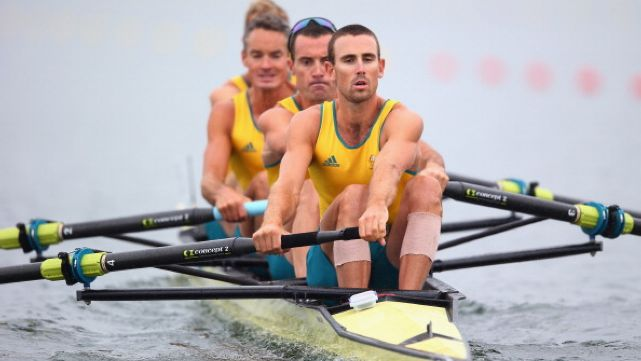 SIlver in the men's four rowing