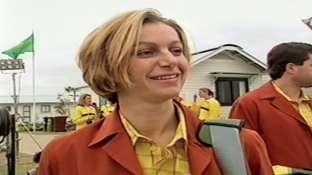 Tracey Gaudry chats before the Sydney 2000 Opening Ceremony