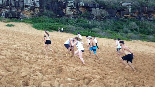 Aussie winter athletes in training
