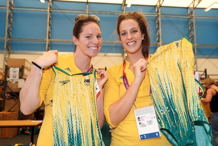 Swimming stars get kitted out