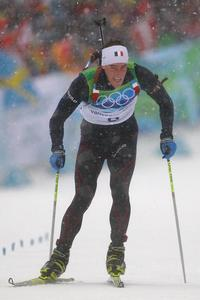 Vincent Jay leads the biathlon