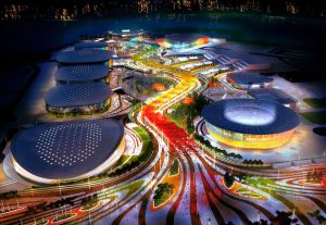 Barra Olympic Park by night