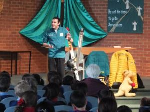 Morris talks with Donvale students