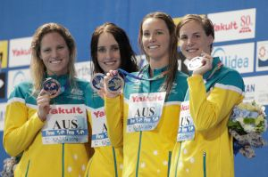 Women's 4x100m Medley Relay win Gold at FINA World Championships