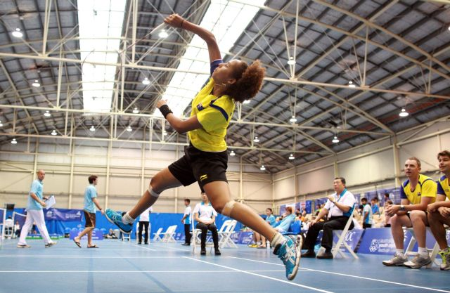Badminton Teams Event On Day One Of The 2013 Australian Youth Olympic Festival In Sports Halls At Sydney Park Centre January 16