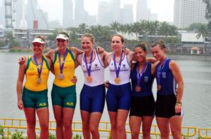 Girls Rowing Podium