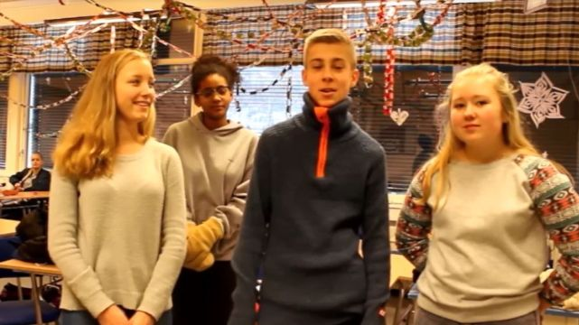 Lillehammer School Twinning - Gausal High School students
