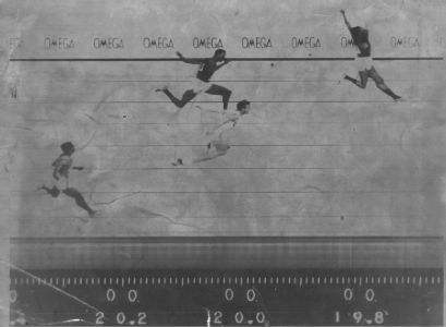 Photo Finish of Men's 200m Mexico 1968