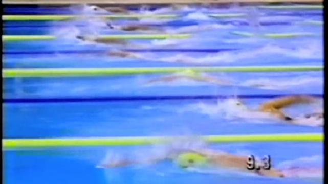 Janelle Elford in the 400m freestyle Seoul 1988