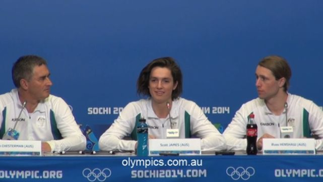 Slopestyle athletes speak to media