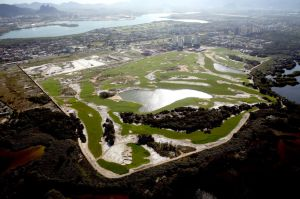 Overhead view of the Rio Olympic Golf Course July 2015