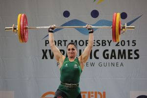 Camilla Fogagnolo in action at Pacific Games