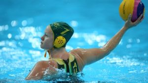 Rowie Webster celebrates 200 Australian water polo games
