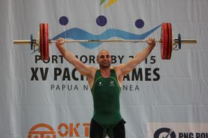 Chamoun smiles at 2015 Pacific Games.