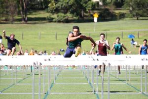 Nick Andrews in action in Hurdles