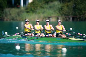 Australian Women's quad - 2015 Rowing World Championships
