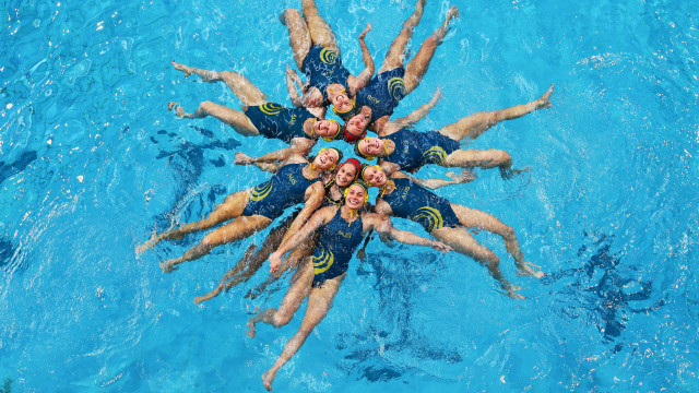 Australian Olympic Water Polo Team Training Session