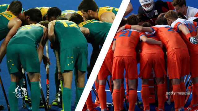 Australia vs. The Netherlands. Men's Hockey. Quarter-final. Juicy.