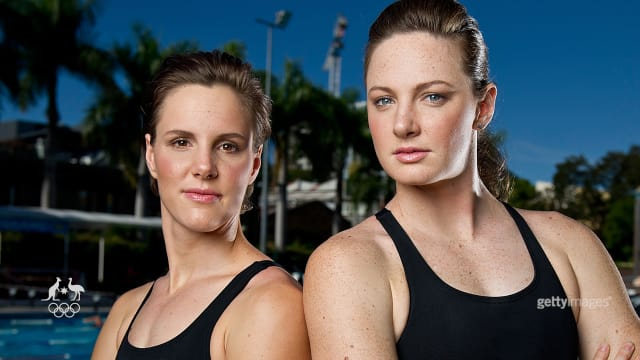 What will the Campbell sisters' coach say to them before the 100m freestyle final?