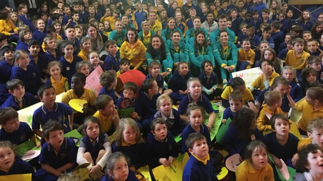 Olympic stars inspire students in Canberra