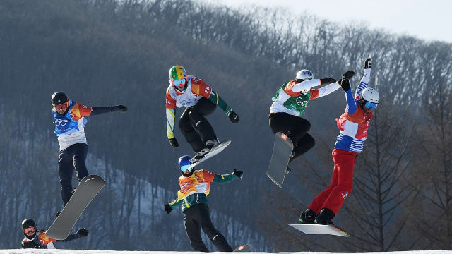 Australia dominates men's boardercross