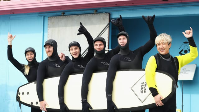 Surf's up for Aussie skiers