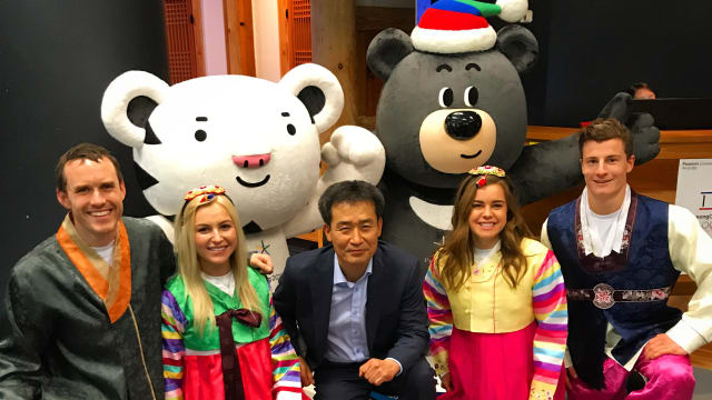 Winter Olympians visit the Korean Culture Centre