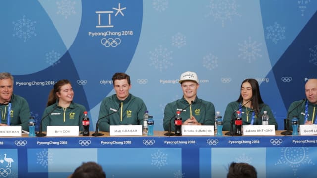 Mogul skiing Team press conference