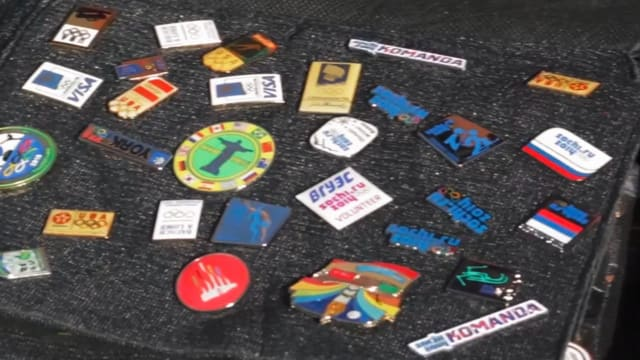 Pin traders spread Olympic spirit