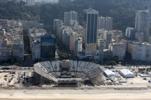Beach Volleyball Stadium - One Month To Go