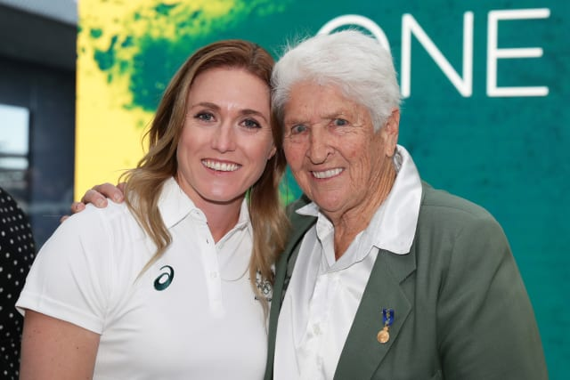 Dawn Fraser and Sally Pearson